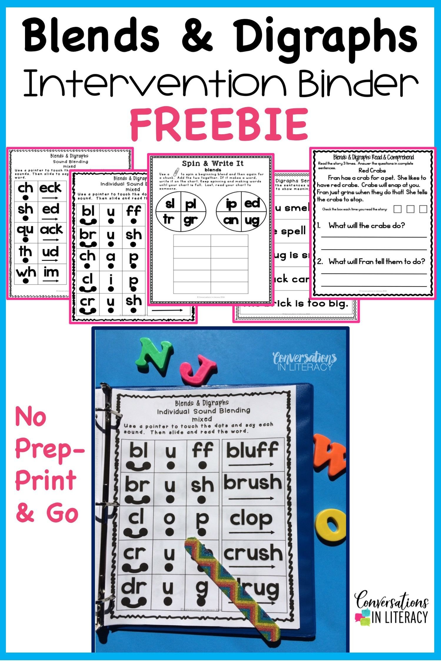 Decoding Worksheets for 1st Grade Blends and Digraphs Activities for Fun Learning In the