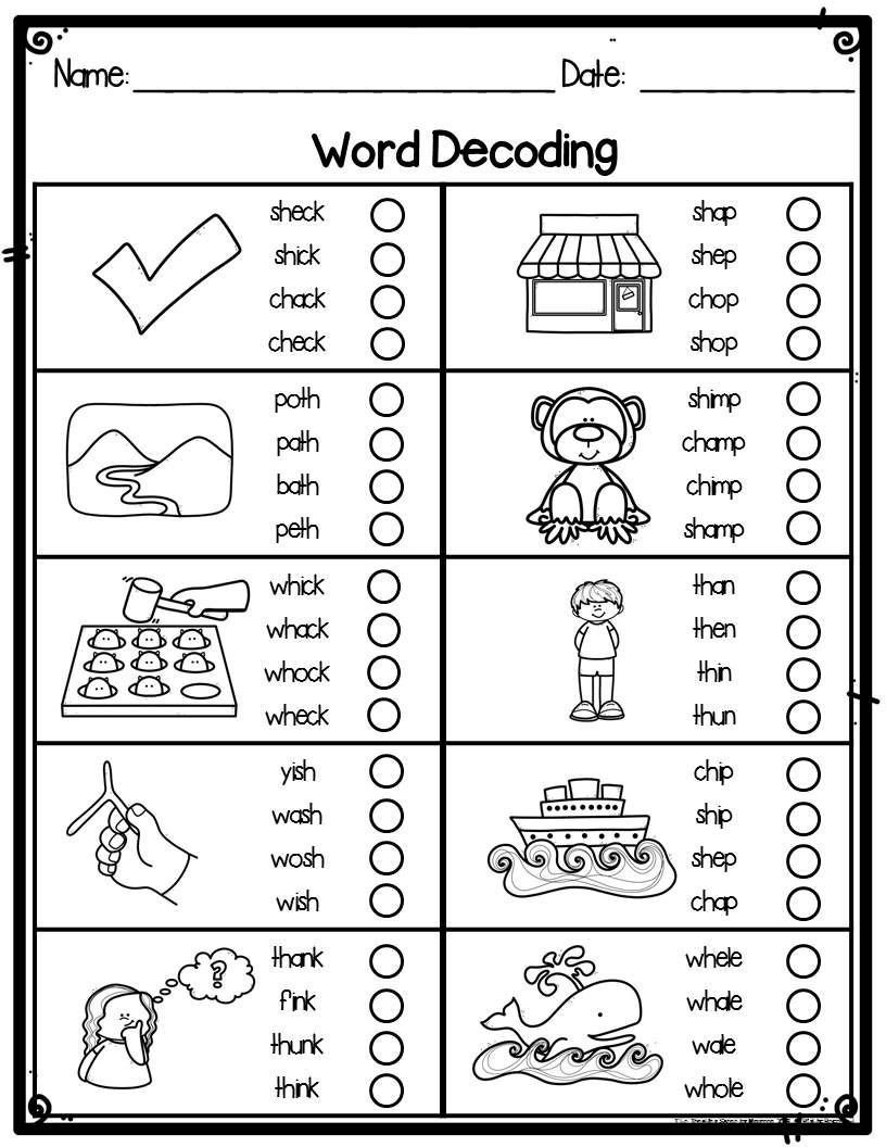 Decoding Worksheets for 1st Grade Pin On Grade Sheet Template Worksheets