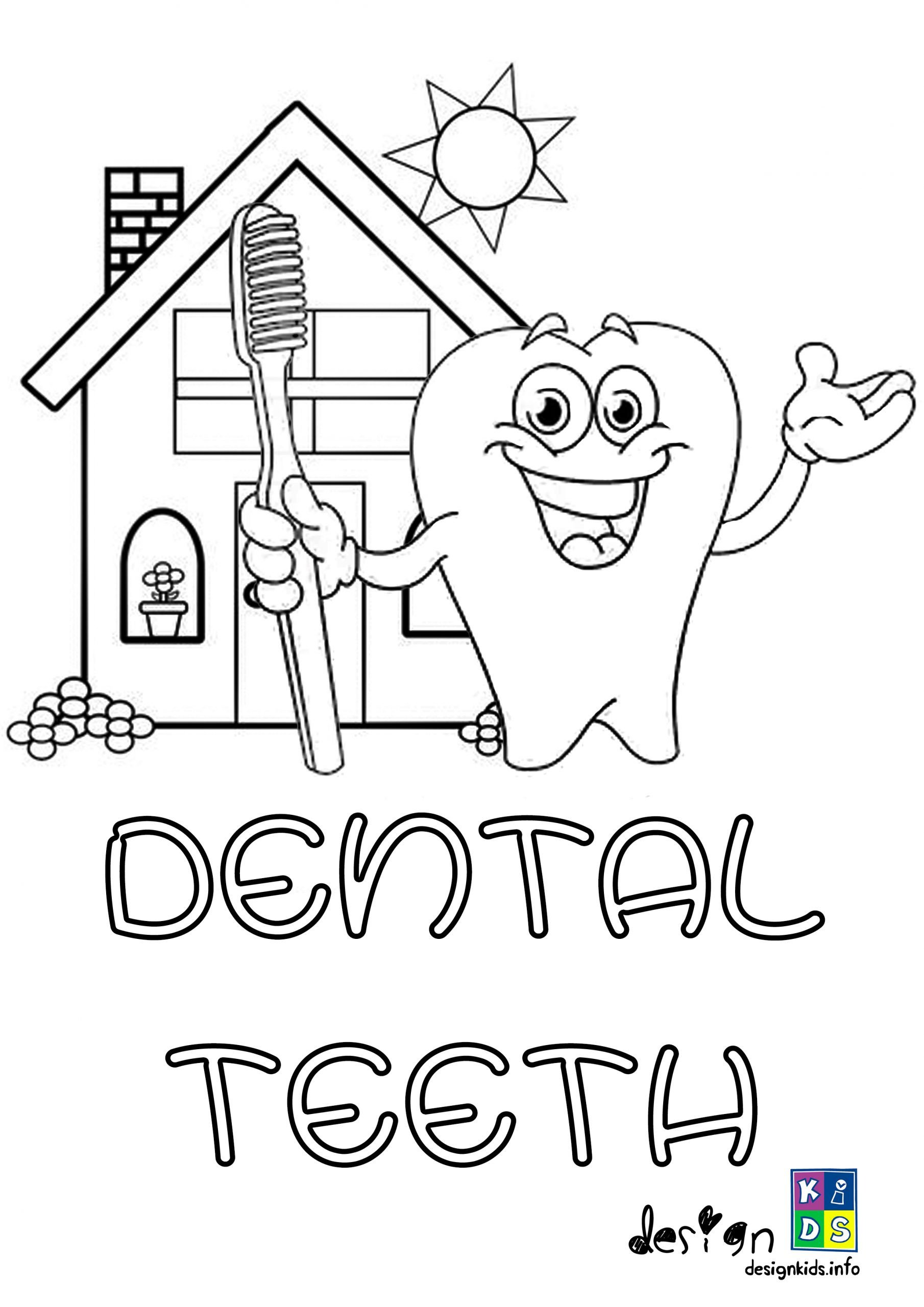 Dentist Worksheets for Kindergarten Color Dental Coloring for Kids Free Printable Health Hygiene