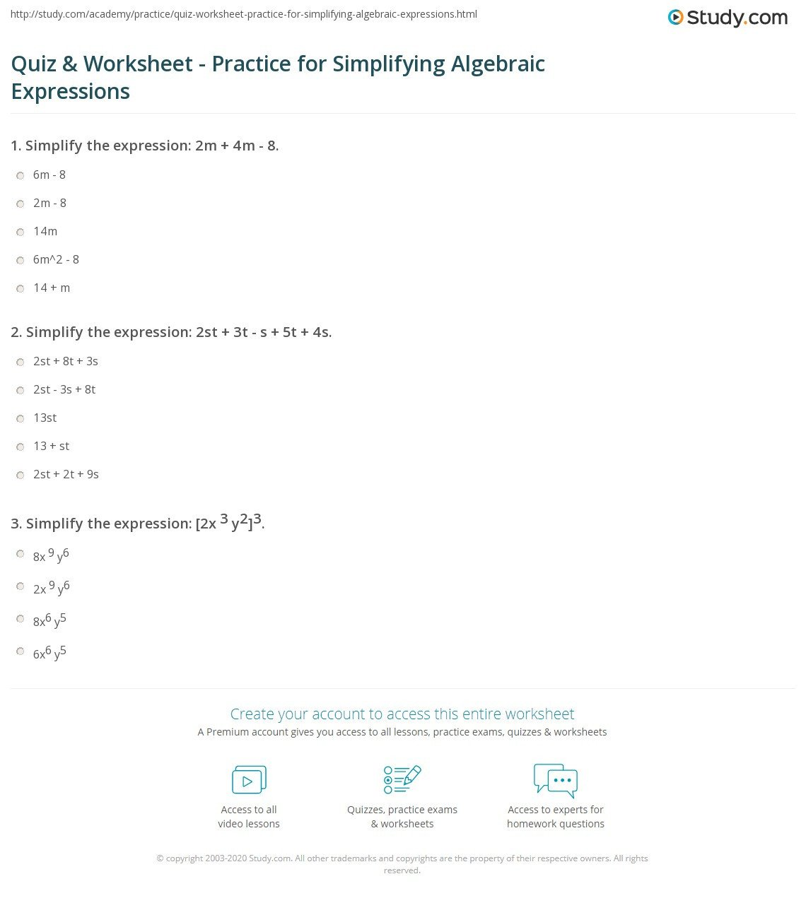 Distributive Property Worksheets Pdf Worksheets Staggering Simplifying Algebraic Expressions