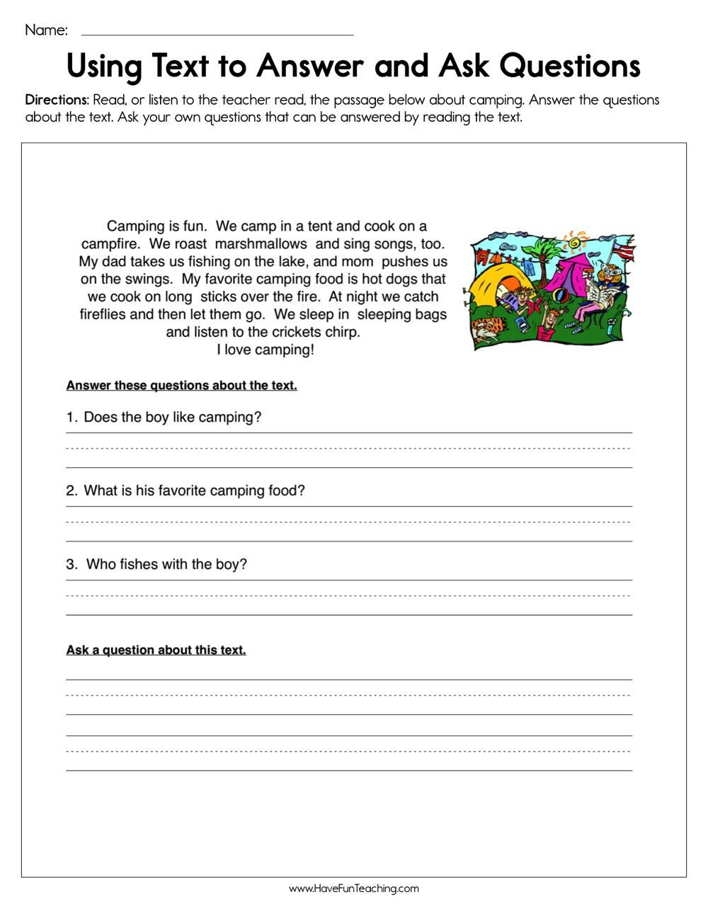Dogs Decoded Worksheet Using Text to Answer and ask Questions Worksheet