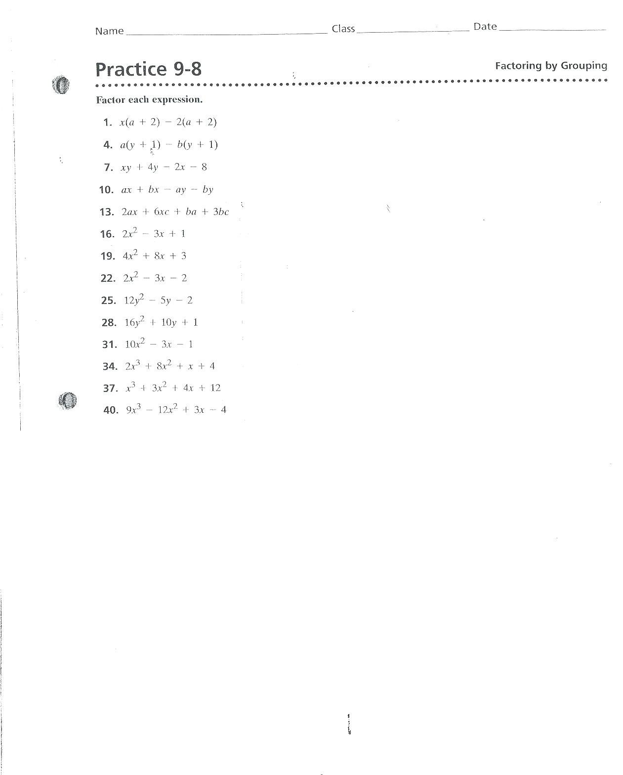 Dominant and Recessive Traits Worksheet Dominant and Recessive Worksheet