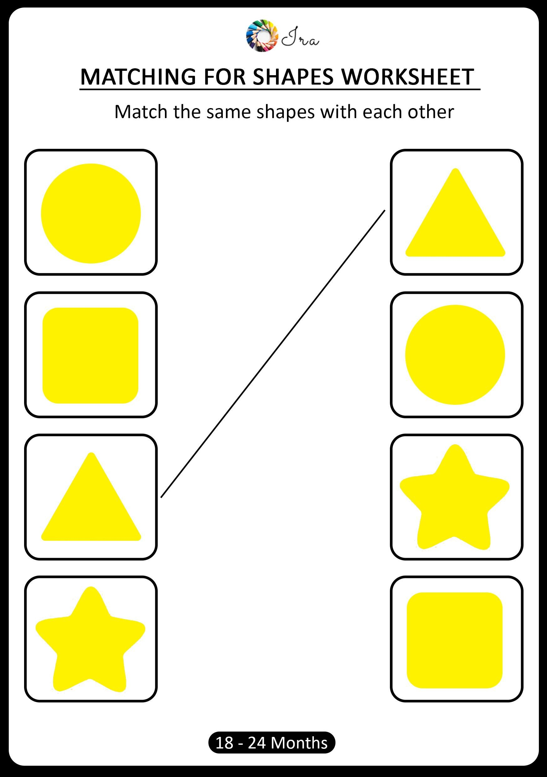 Early Childhood Worksheets Pin On [18 24 Months] Matching for Shapes Worksheets for Kids