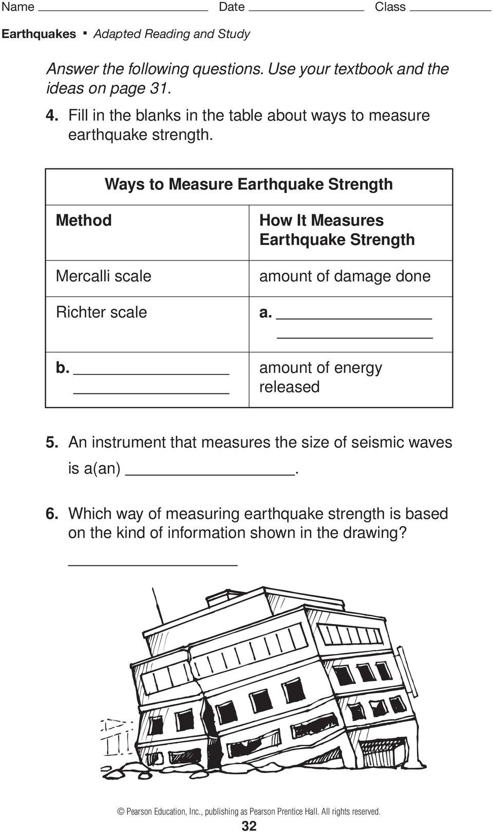 Earthquake Worksheet Pdf Earthquakes and Seismic Waves Pages 51 57 Pdf Free Download