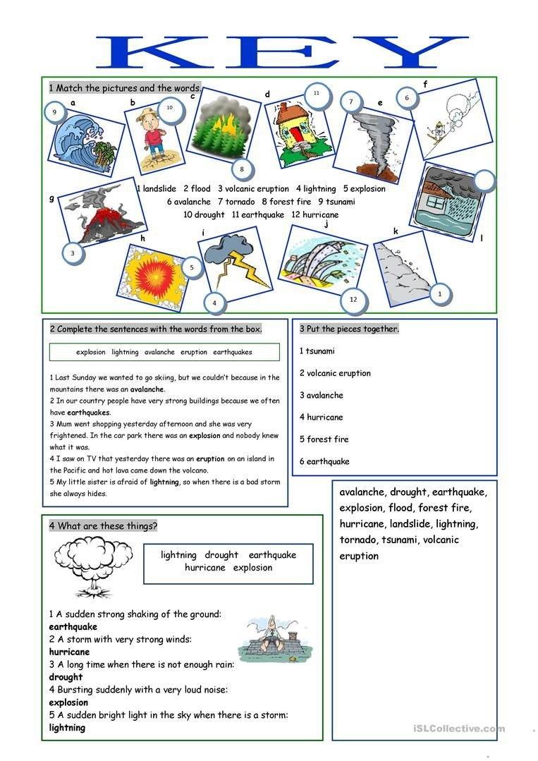Earthquake Worksheet Pdf Natural Disasters Vocabulary Exercises