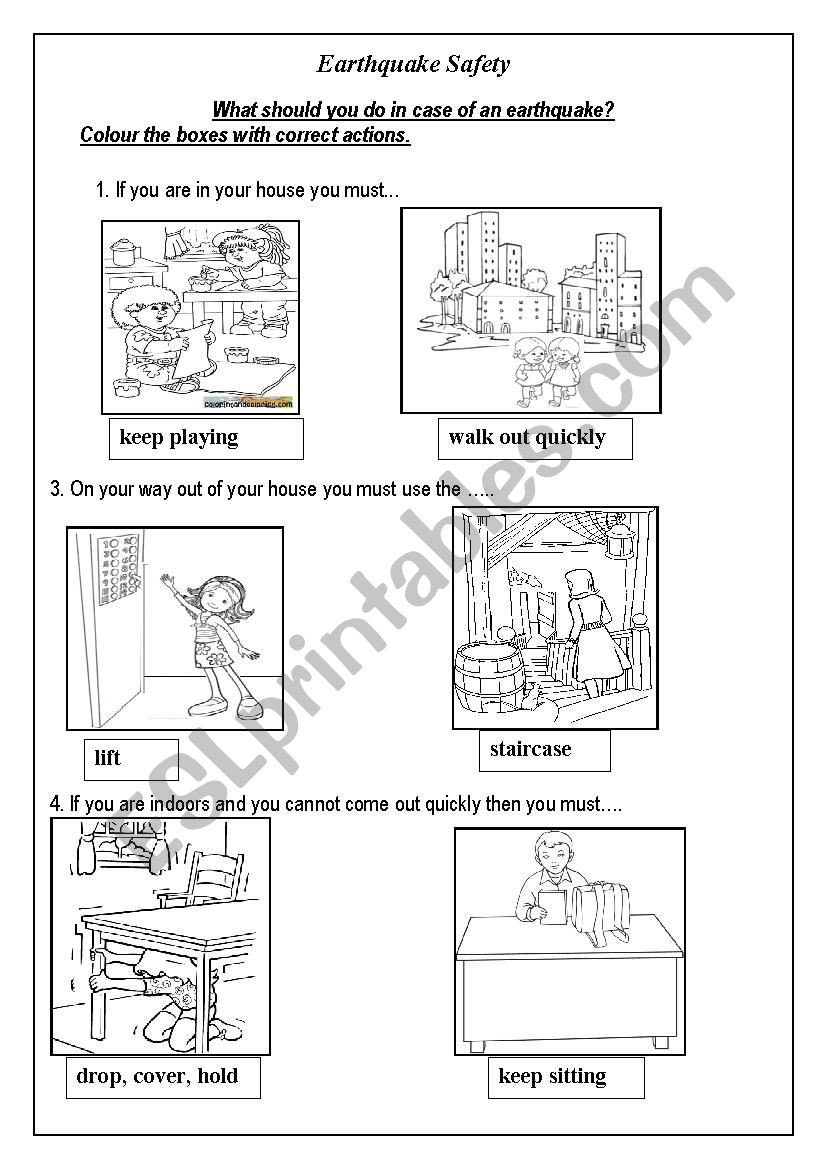 earthquake esl worksheet by geeta sen roy printable worksheets free algebra practice 4th