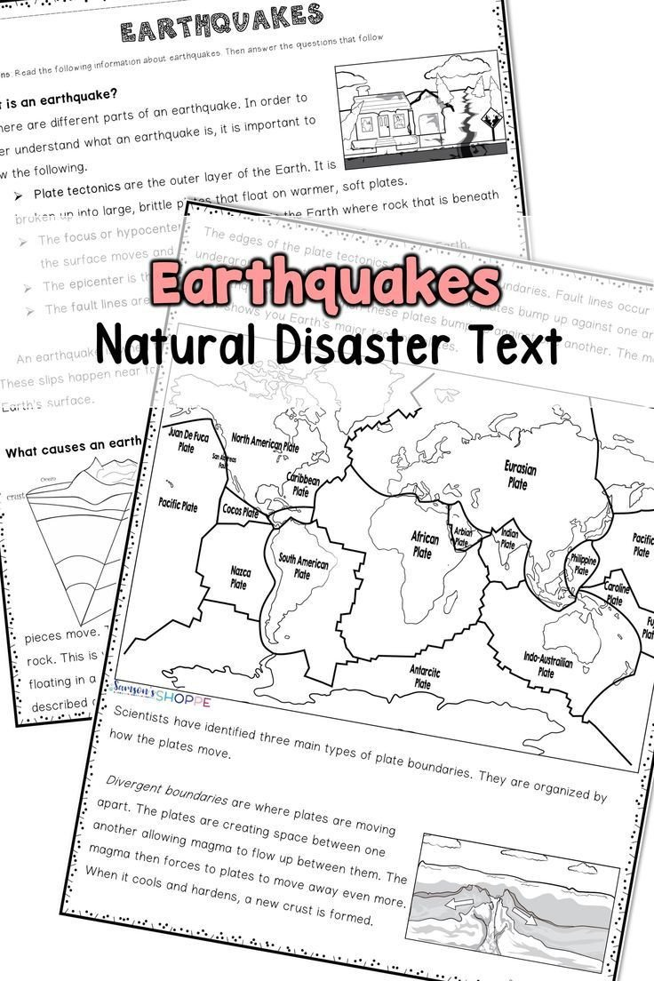 Earthquake Worksheets Middle School Earthquake Natural Disaster
