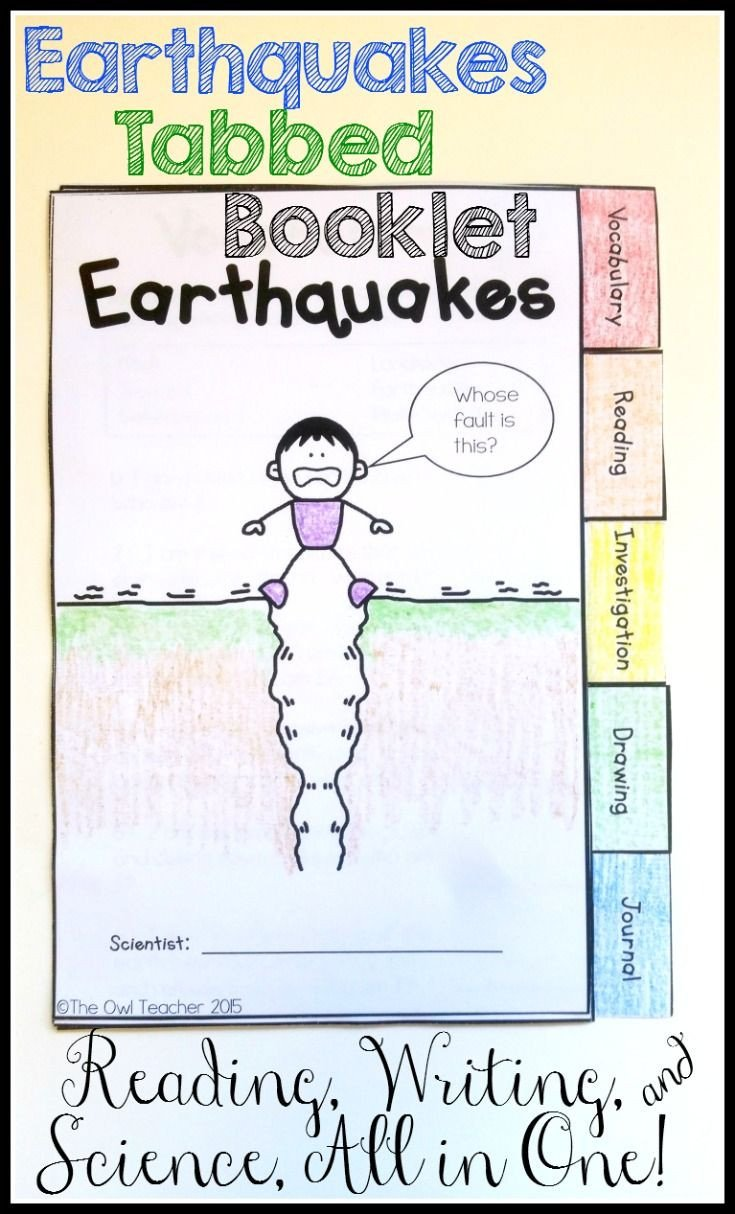 Earthquake Worksheets Middle School Earthquakes Investigation Tabbed Booklet the Owl Teacher