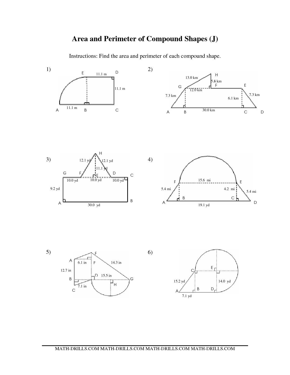 Easy Perimeter Worksheets Perimeter Different Shapes Worksheet