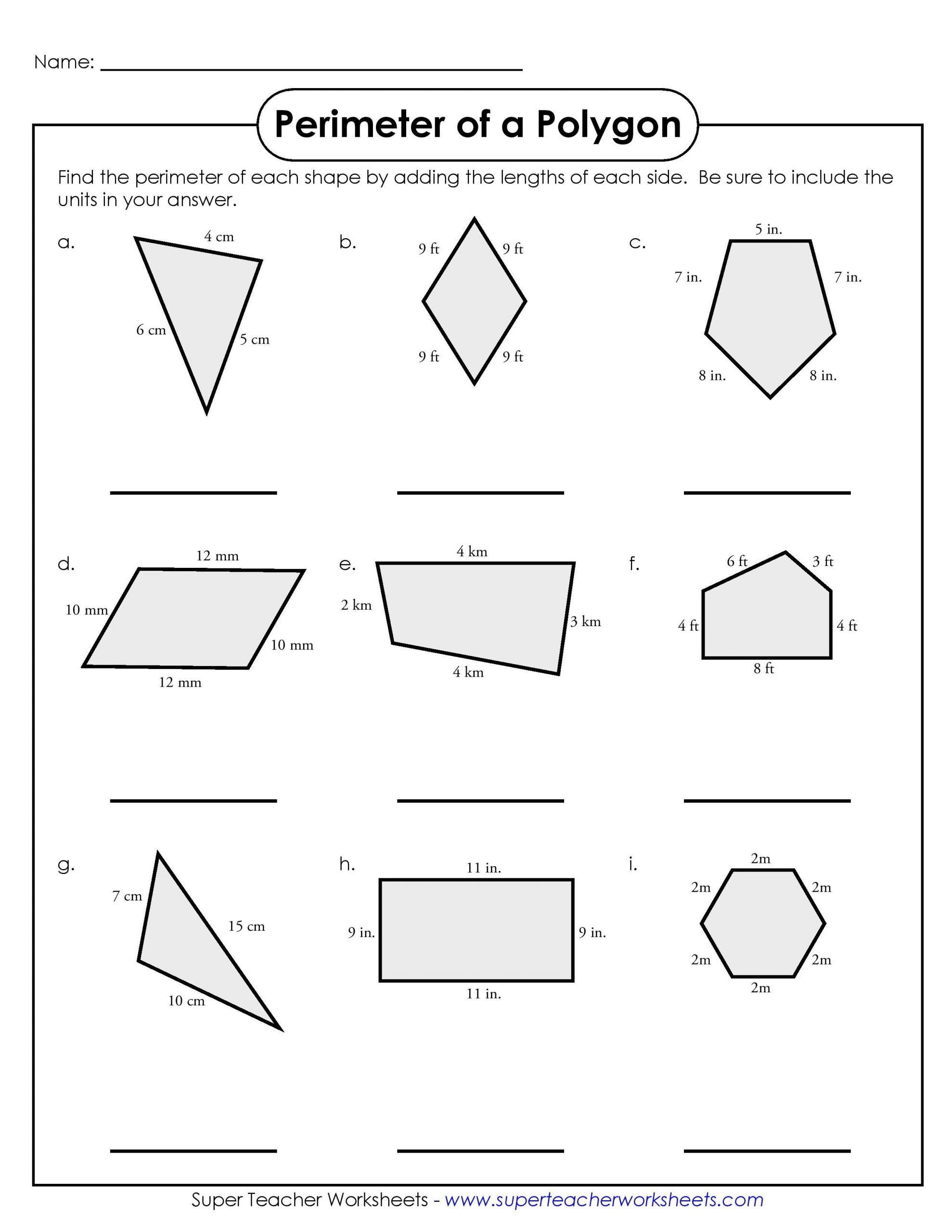 Easy Perimeter Worksheets Simple Perimeter Worksheets