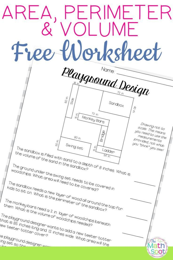 Easy Perimeter Worksheets Volume area Perimeter Worksheet Free