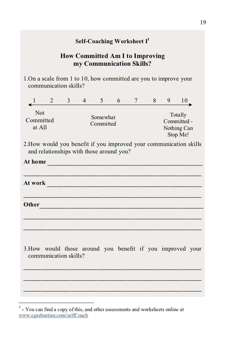 Effective Communication Worksheets Adults Munication Skills Magic E Book Freechapters