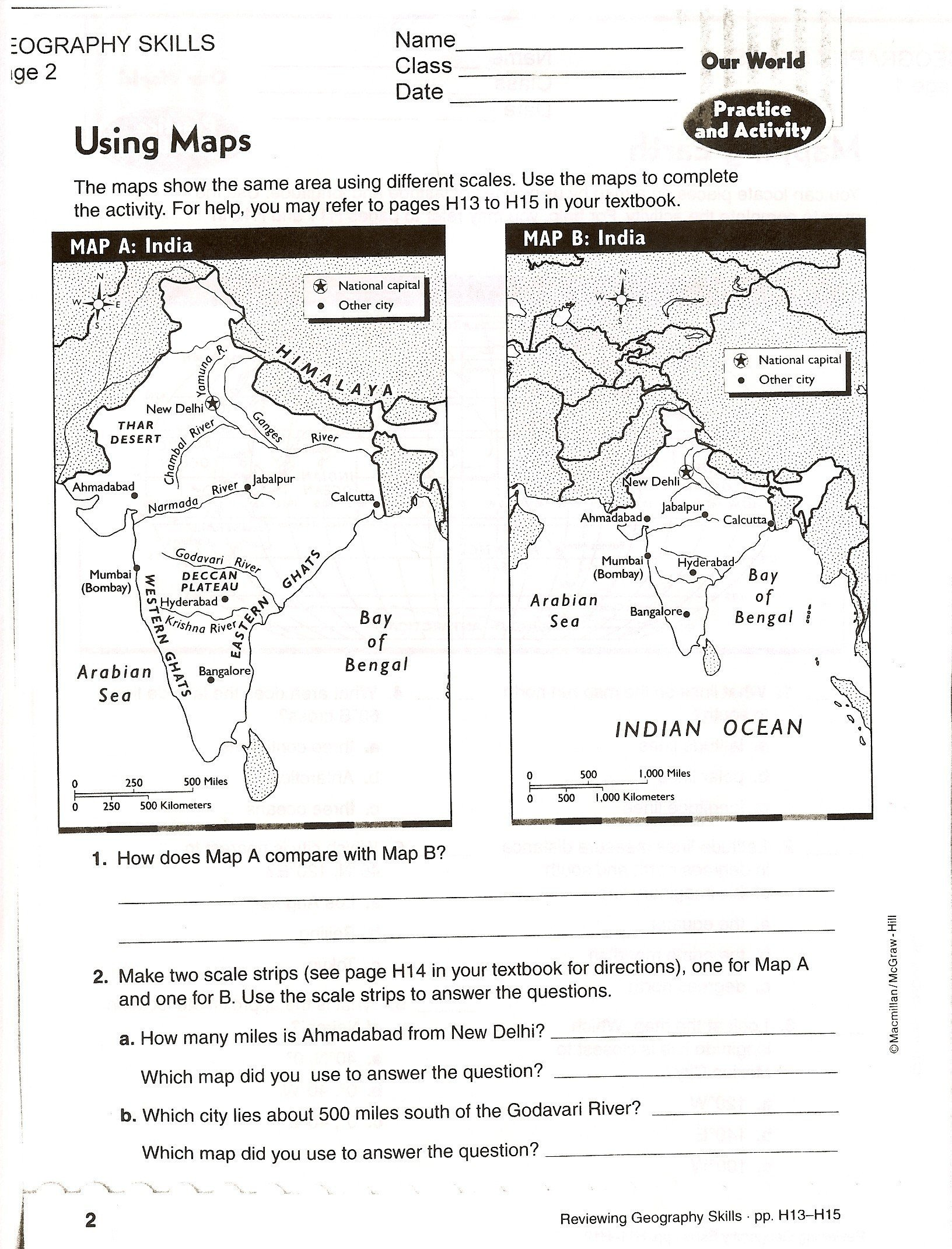 Elementary Map Skills Worksheets Free Printable Unique Worksheets