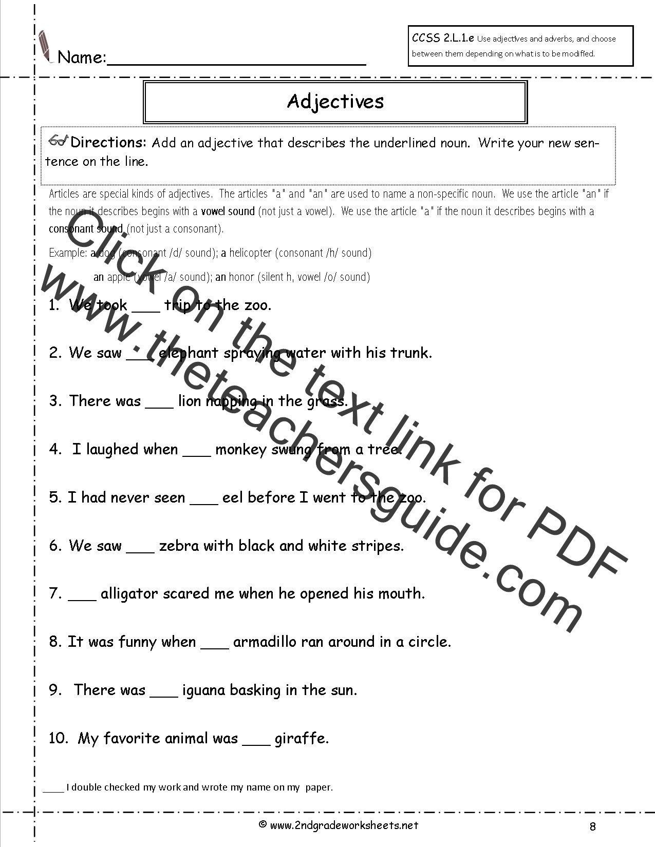 Er Est Worksheets 2nd Grade Free Using Adjectives and Adverbs Worksheets