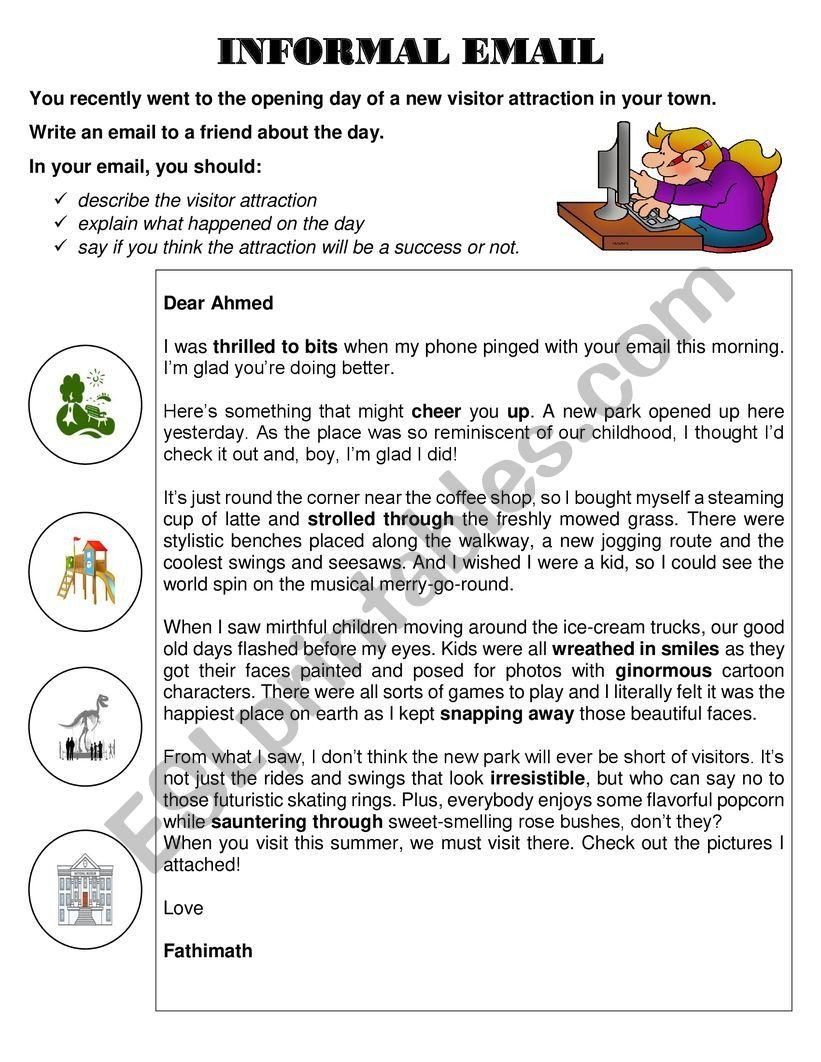 Esl Writing Worksheets Pdf Email Writing Igcse Esl Worksheet by Shaneesthomas