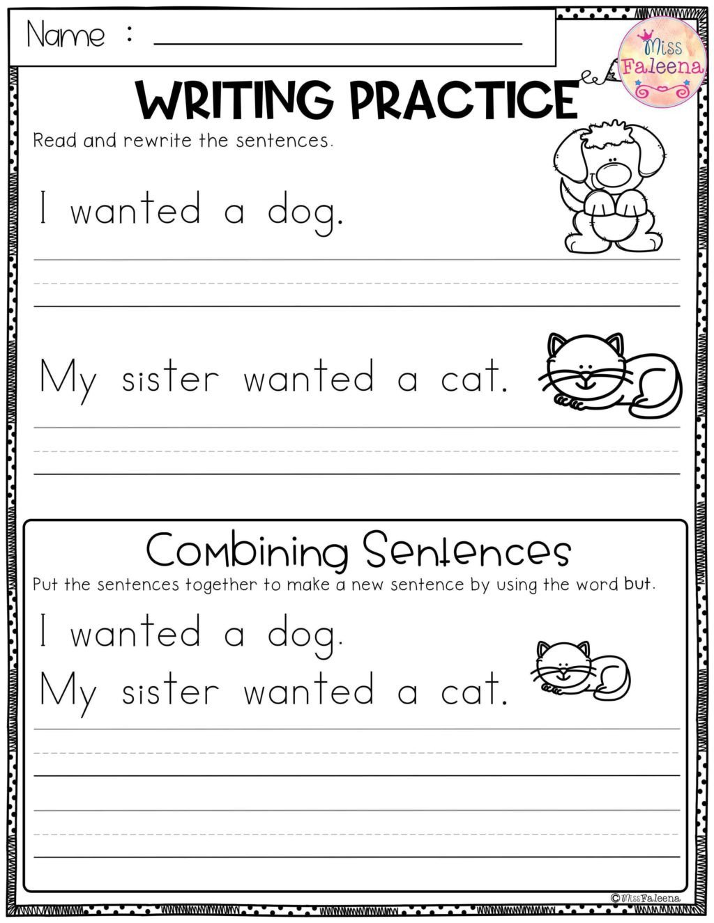 free writing practice bining sentences outstanding grade worksheets worksheet to print outble 1024x1325