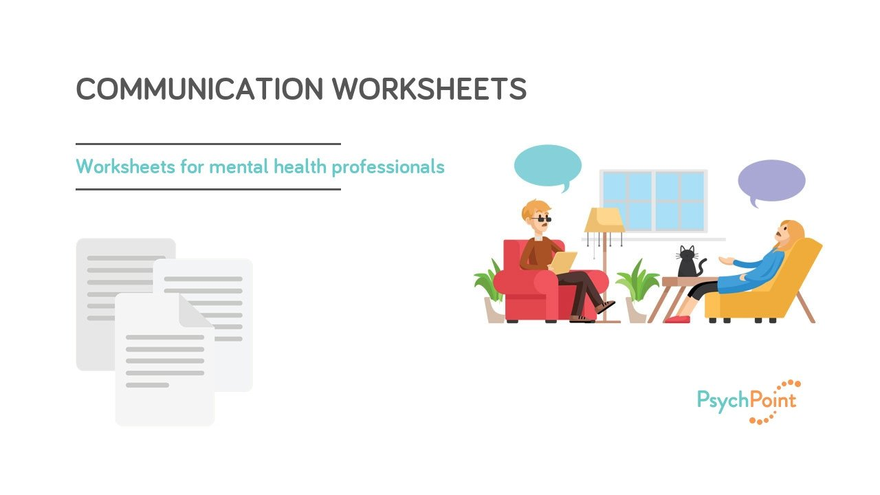 Family therapy Communication Worksheets Munication Worksheets