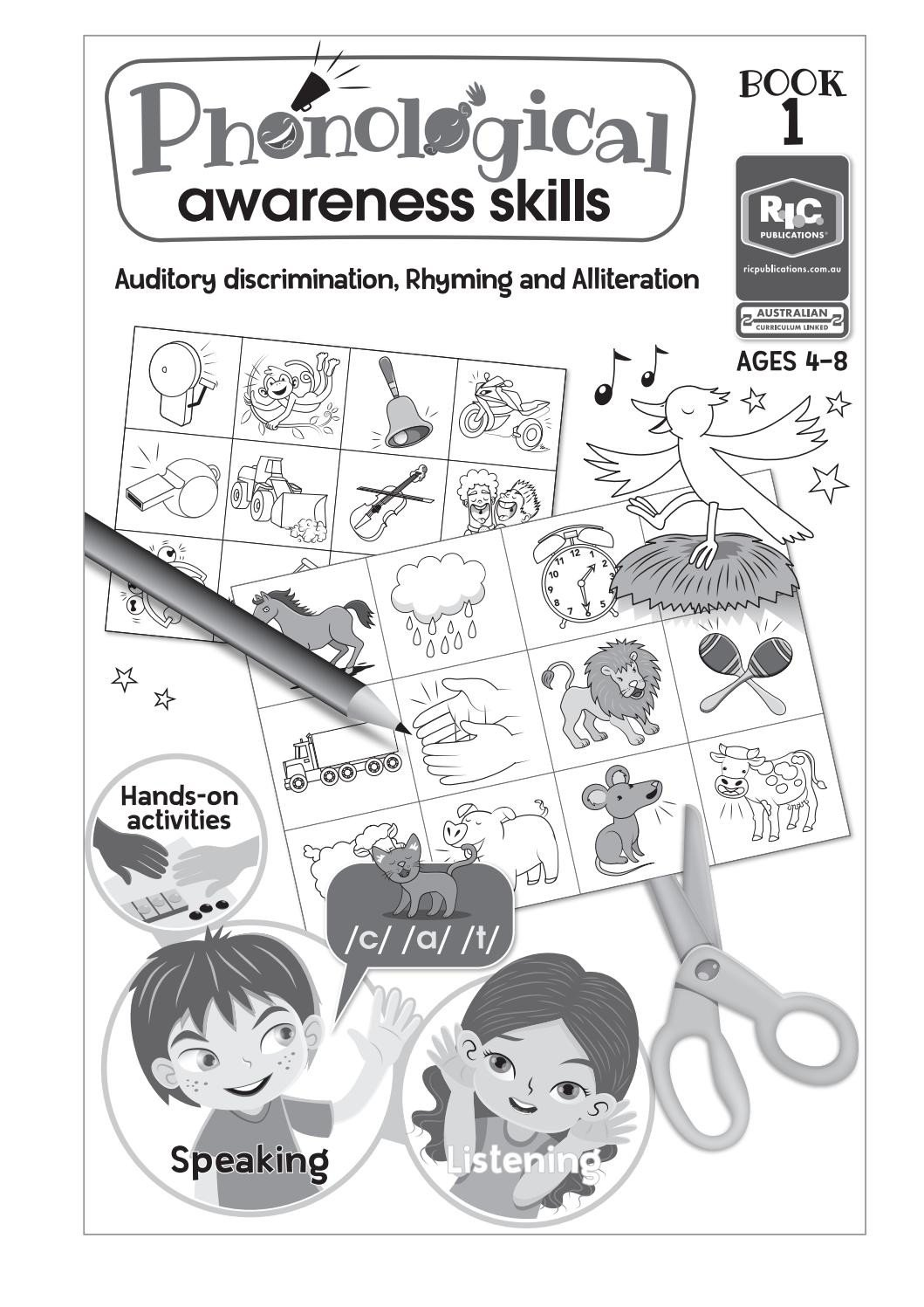 Final Consonant Deletion Worksheet Phonological Awareness Skills Book 1 by Teacher Superstore