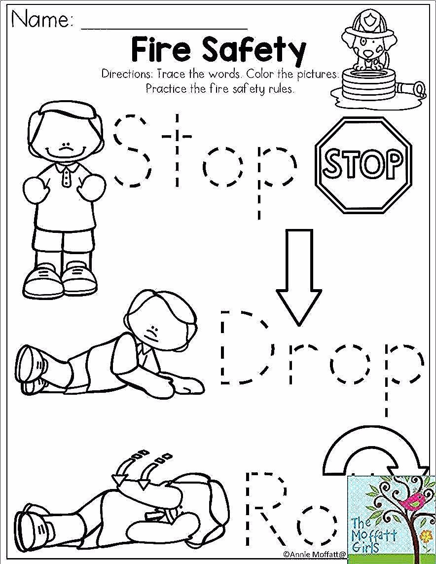 Fire Safety Worksheets Preschool 3 Worksheet Construction Coloring People Preschool Related