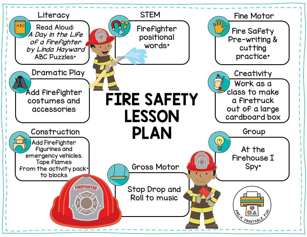 Fire Safety Worksheets Preschool Preschool Fire Safety theme Pre K Printable Fun