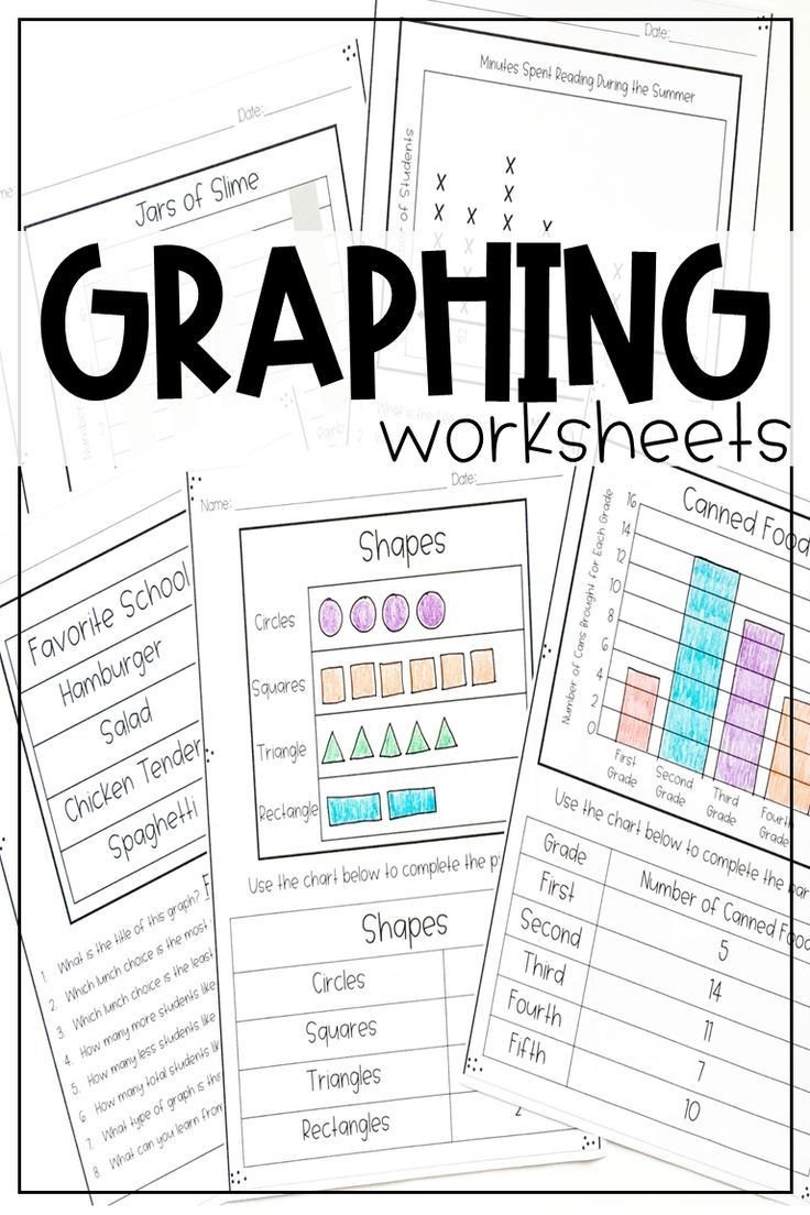 First Grade Graphing Worksheets Graphs and Data Worksheets In 2020