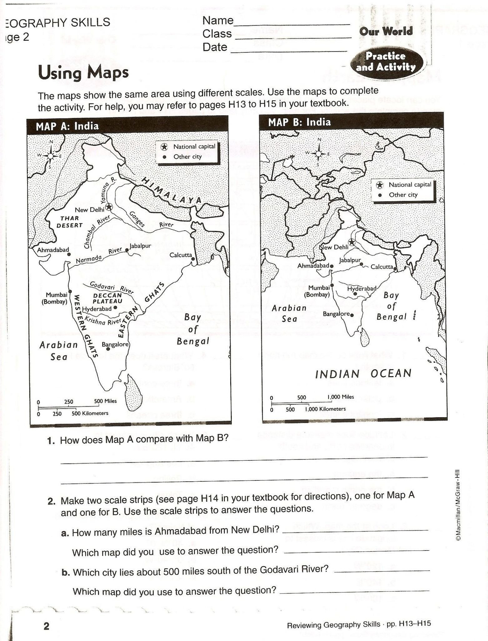 First Grade Map Skills Worksheets Map Skills Worksheets to Printable Map Skills Worksheets