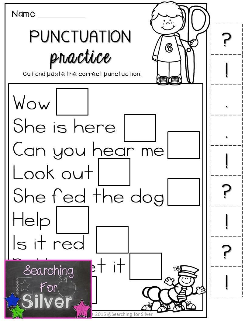 First Grade Punctuation Worksheets Punctuation Practice for First Grade Lots Of Other Literacy