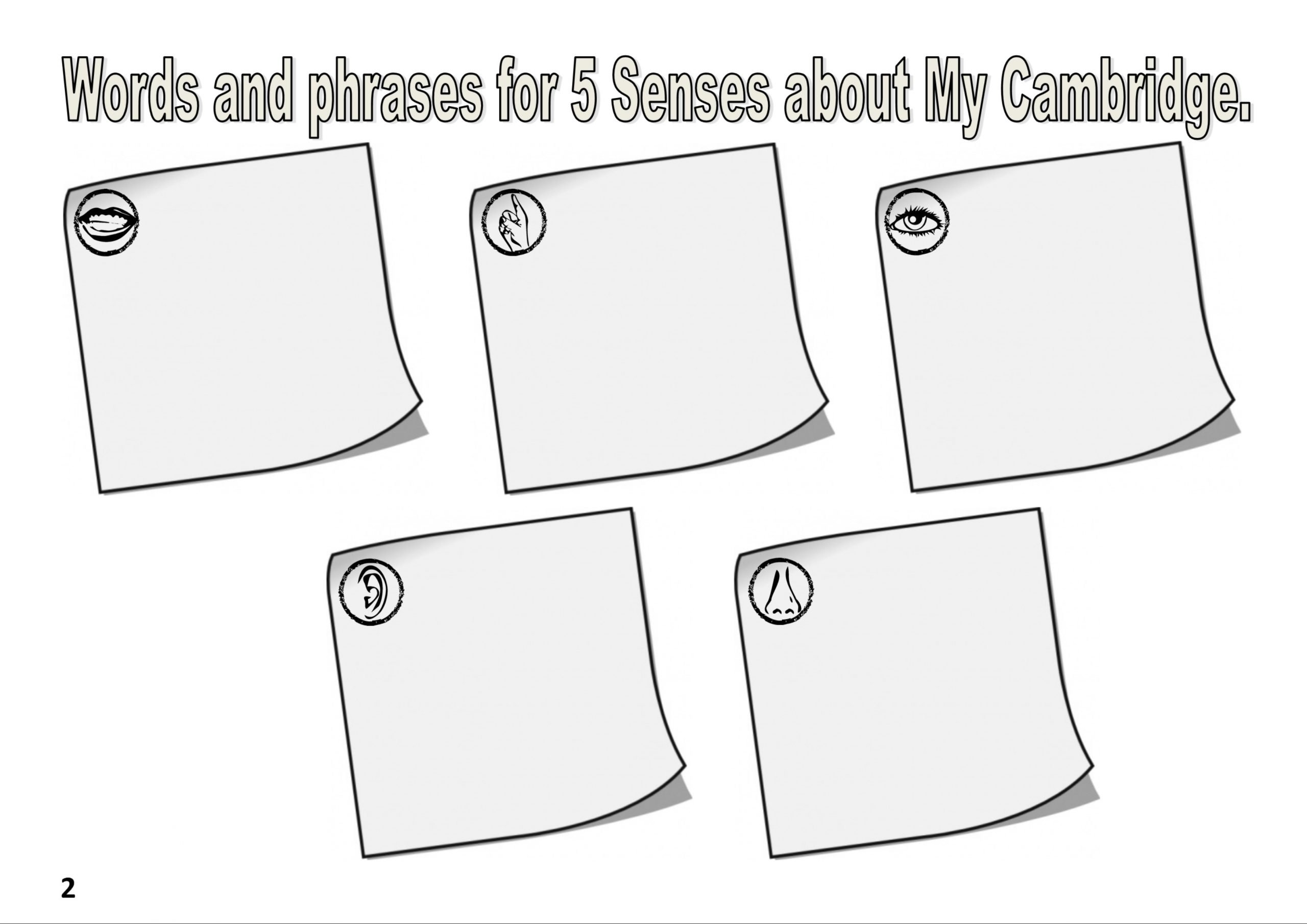Five Senses Worksheets Pdf 5 Senses Creating My Cambridge