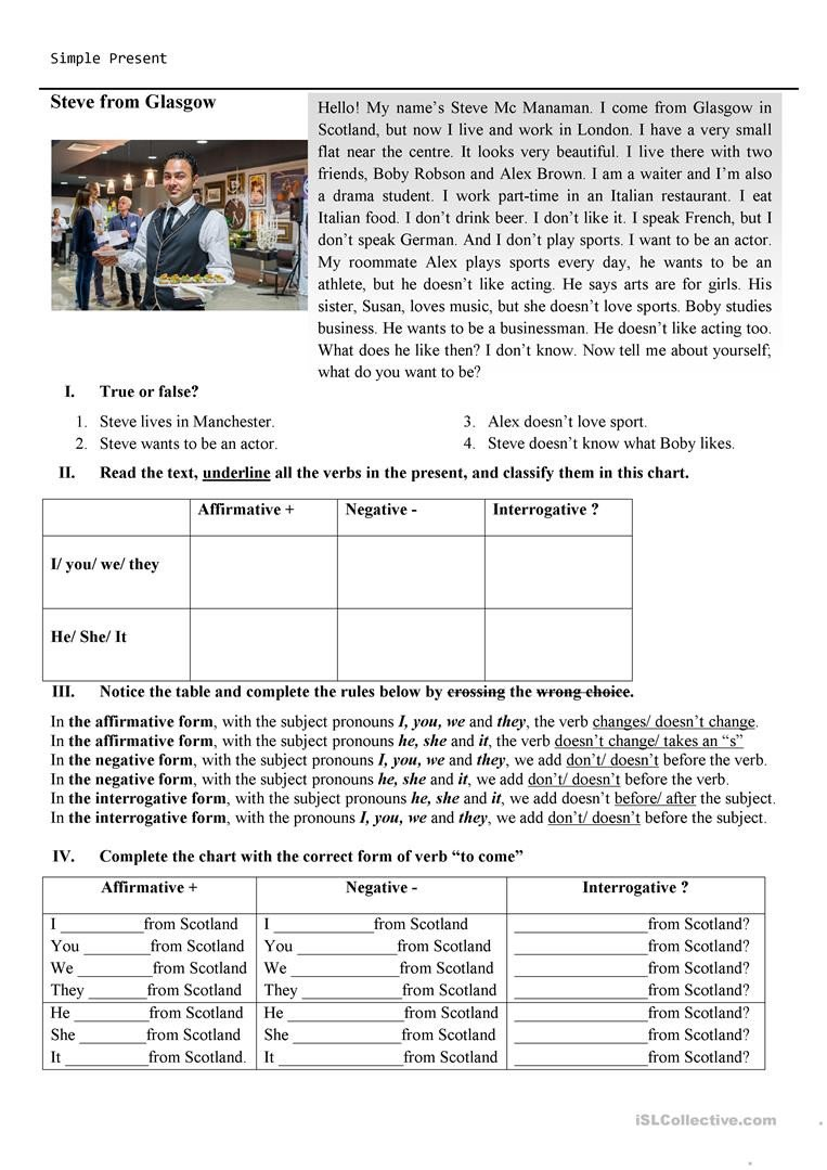 Flag Day Reading Comprehension Worksheets Reading Prehension Simple Present English Esl Worksheets