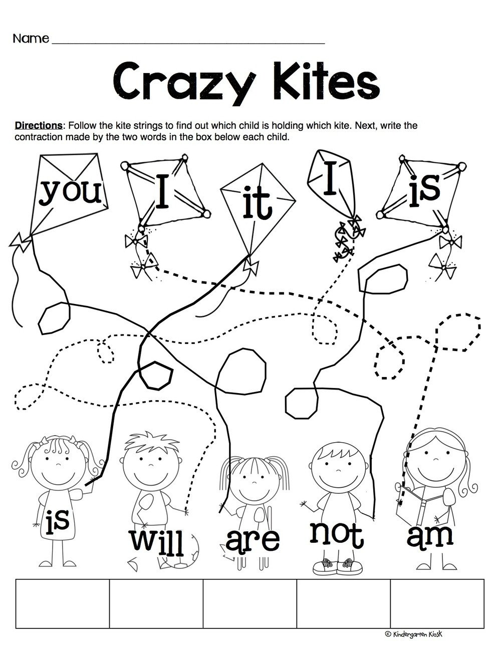 Follow Directions Worksheet Kindergarten Worksheet Worksheet Phonics Prep Contractionsets