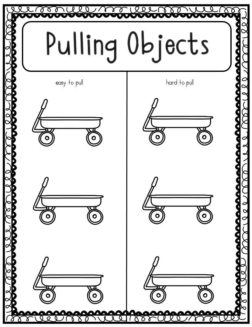 Force and Motion Kindergarten Worksheets force and Motion Pushes and Pulls Experiments