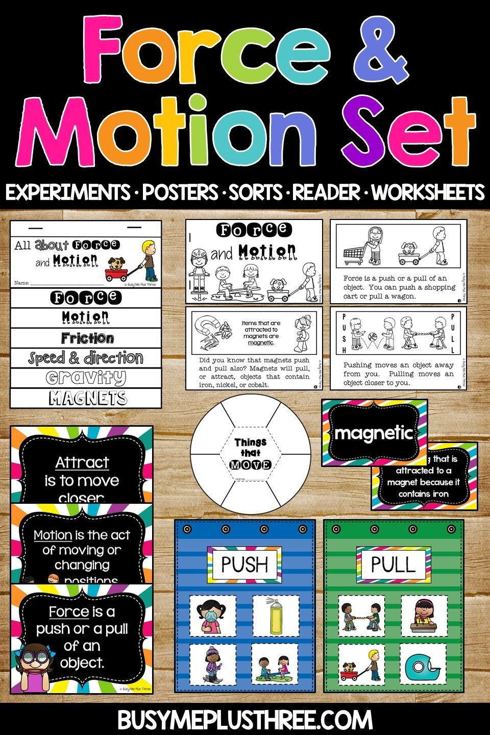 Force and Motion Kindergarten Worksheets force and Motion Worksheets Science Experiments Interactive
