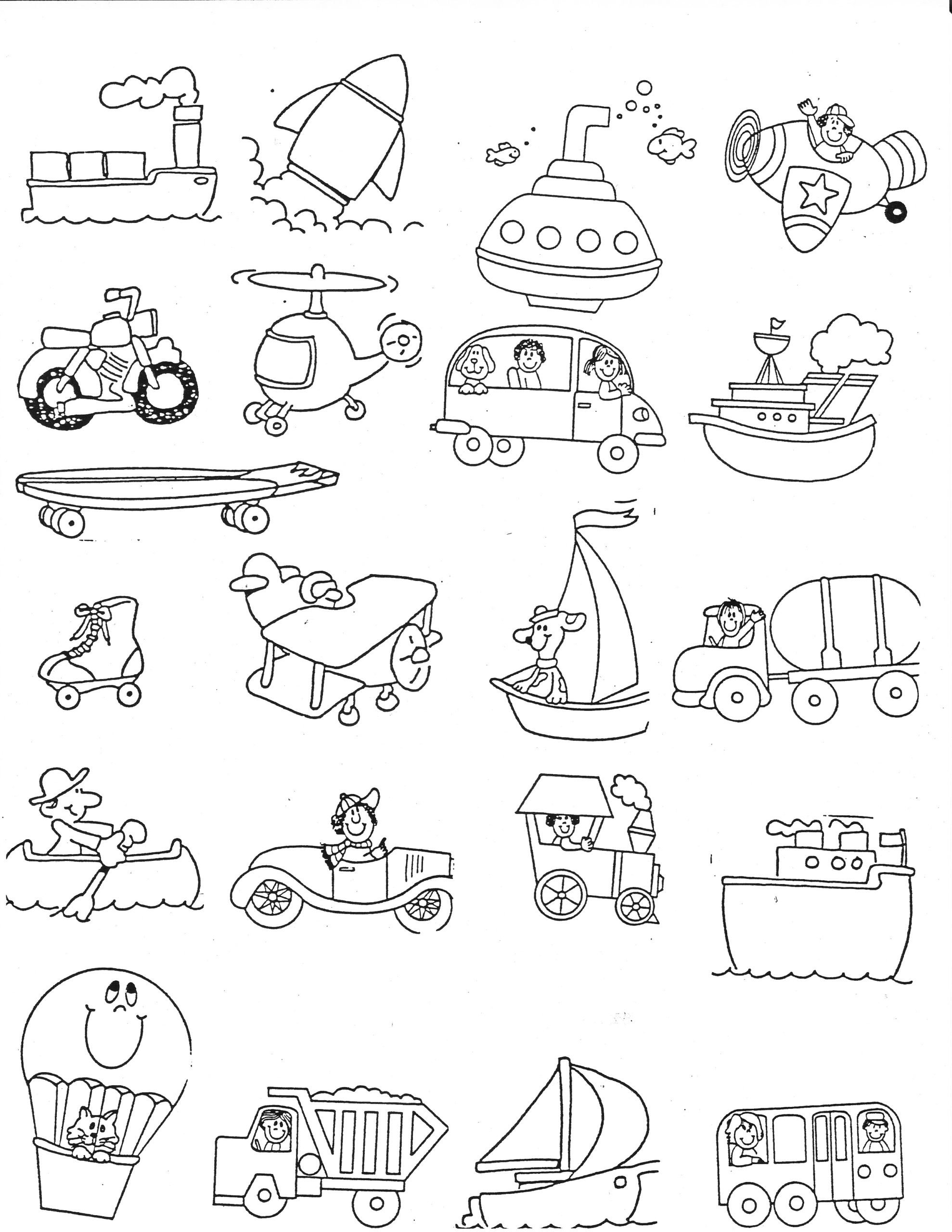Force and Motion Kindergarten Worksheets Transportation Kindergarten Nana force and Motion Worksheets