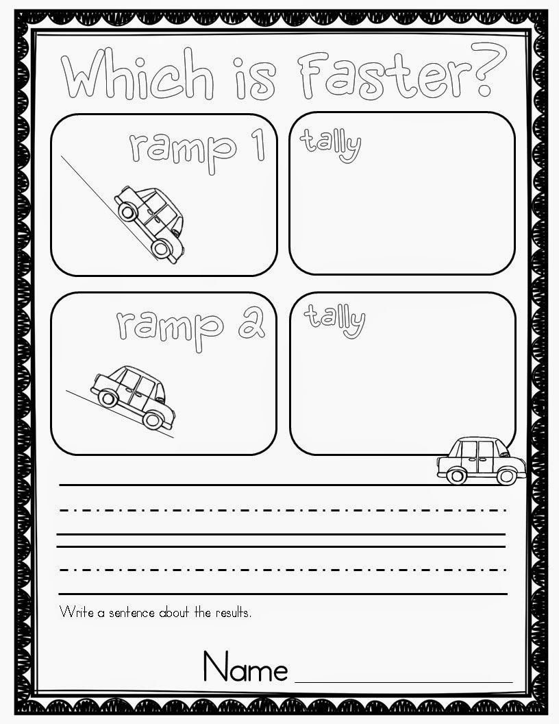 Force and Motion Kindergarten Worksheets who S who and who S New force and Motion Experiments
