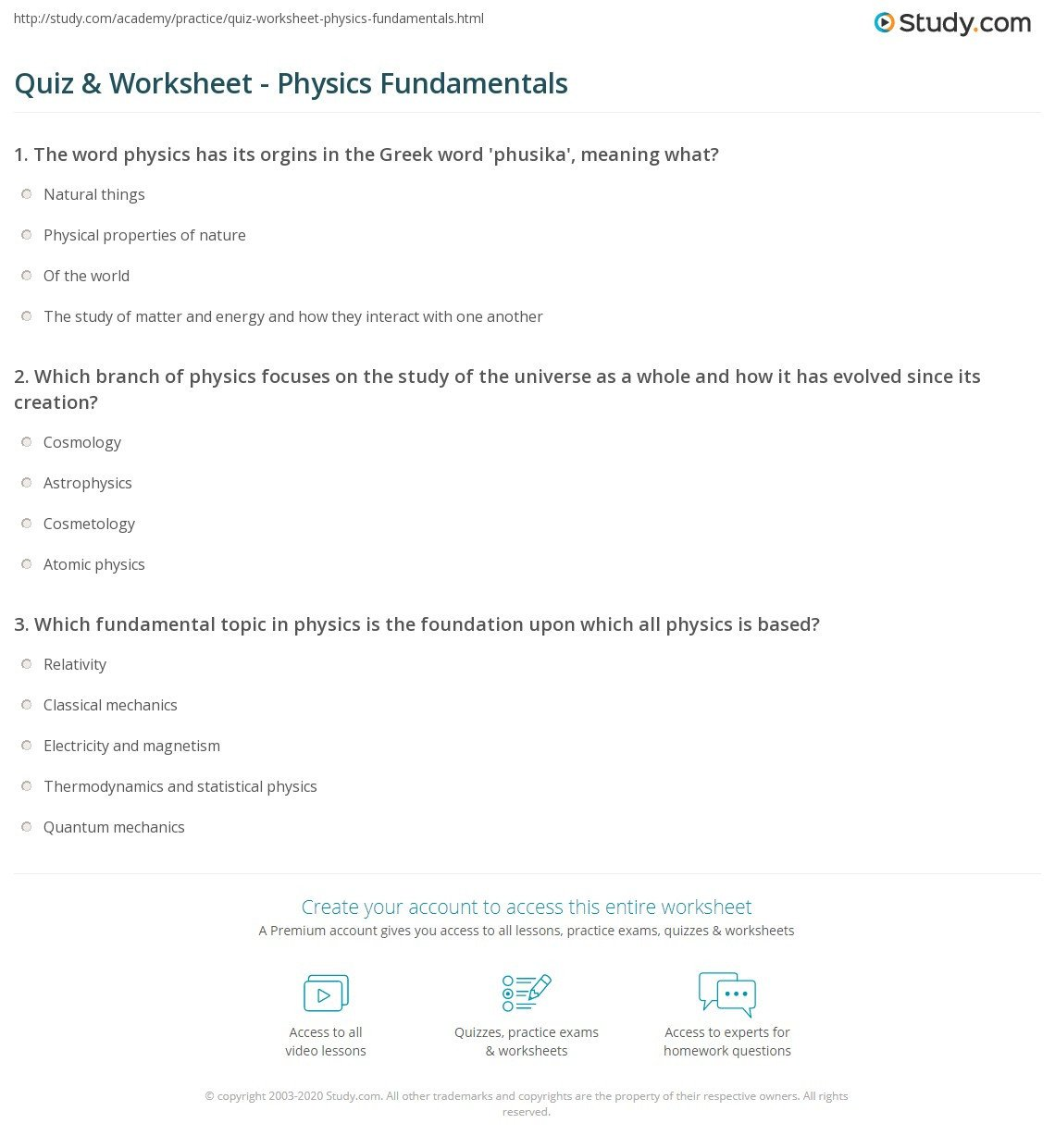 worksheet energy physics fundamentals 6 24 answers