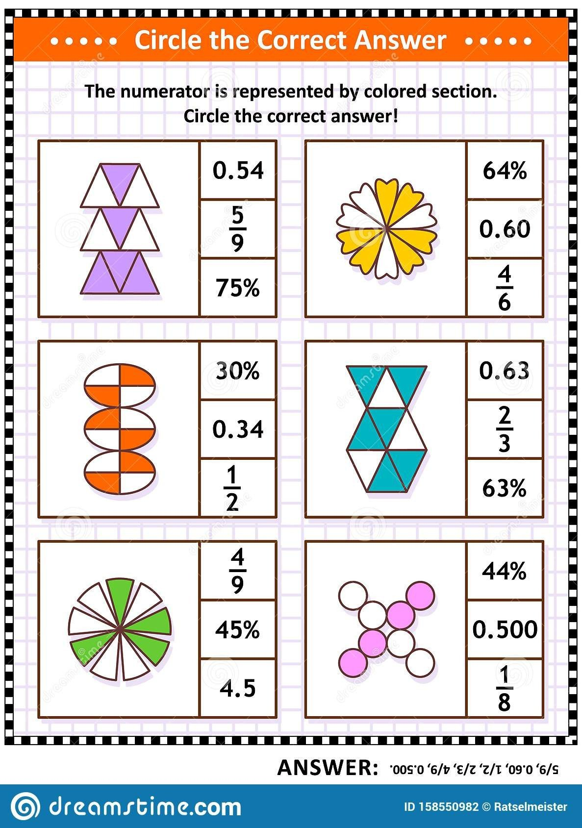Fraction Puzzles Worksheets