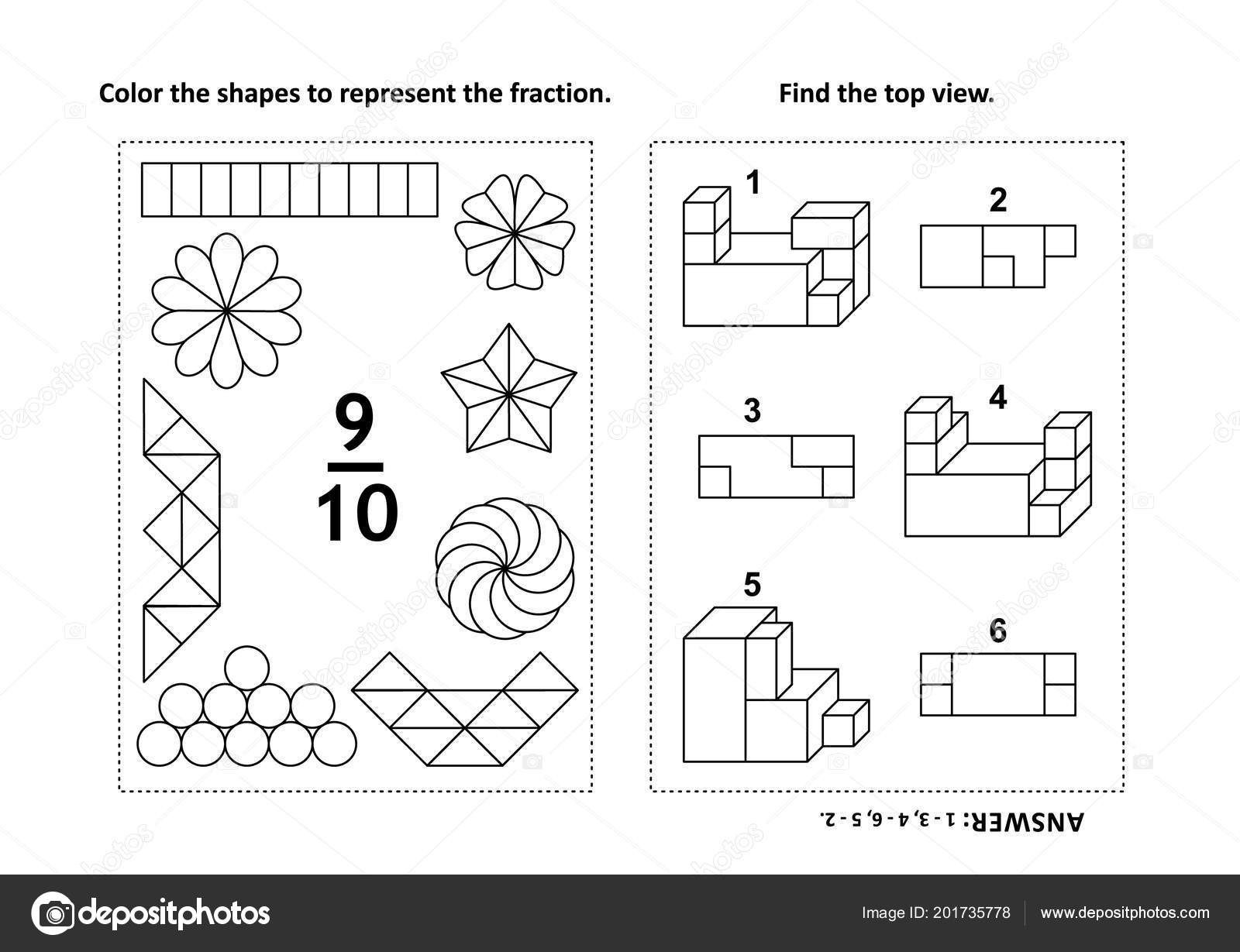 incredible fraction coloring worksheets 3rdade math squares 5th