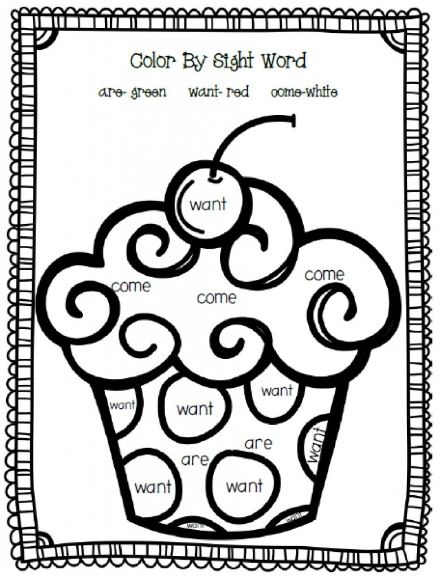 Free Color Word Worksheets Printableg Sight Word Pages Pdf format Free Download