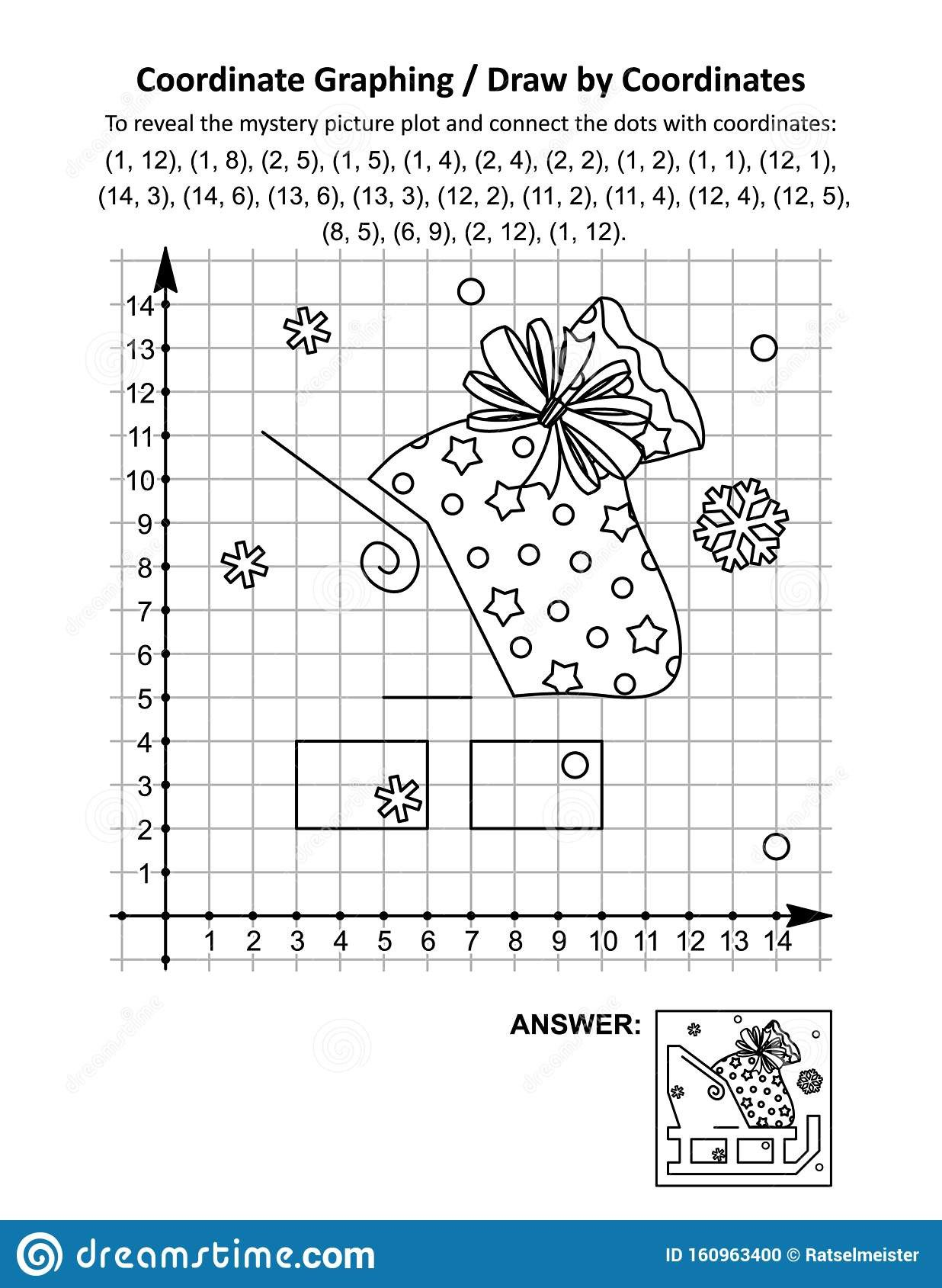 Free Coordinate Graphing Worksheets Coordinate Graphing Draw by Coordinates Math Worksheet