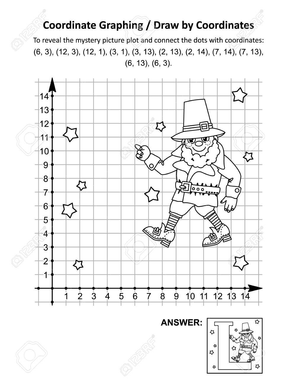 Free Coordinate Graphing Worksheets Coordinate Graphing or Draw by Coordinates Math Worksheet with