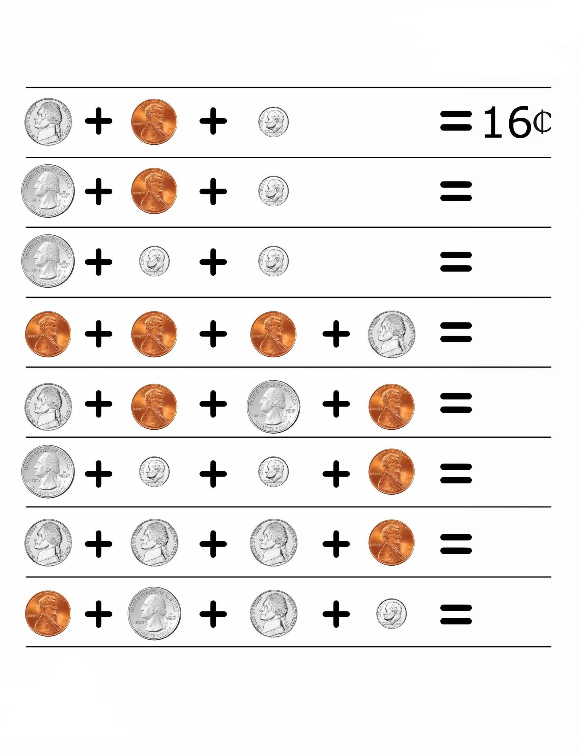 Free Counting Coins Worksheets 2nd Grade Money Worksheets Best Coloring Pages for Kids