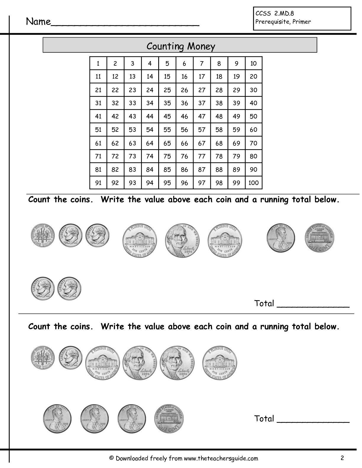 Free Counting Coins Worksheets Counting Coins Worksheet
