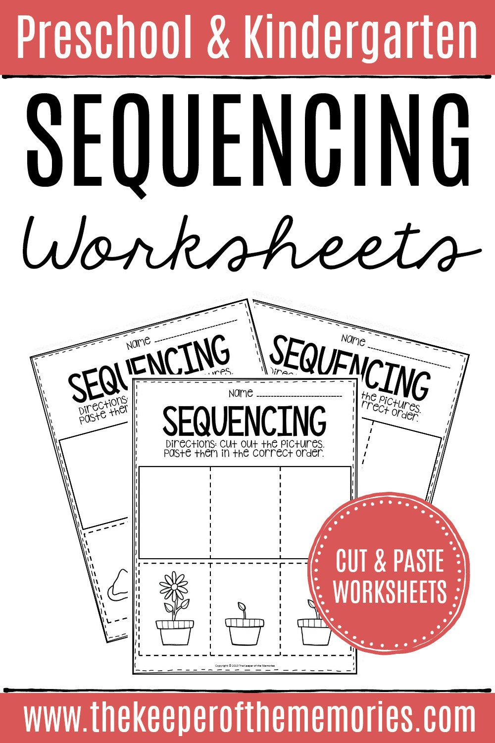 Free Cut and Paste Worksheets 3 Step Sequencing Worksheets the Keeper Of the Memories