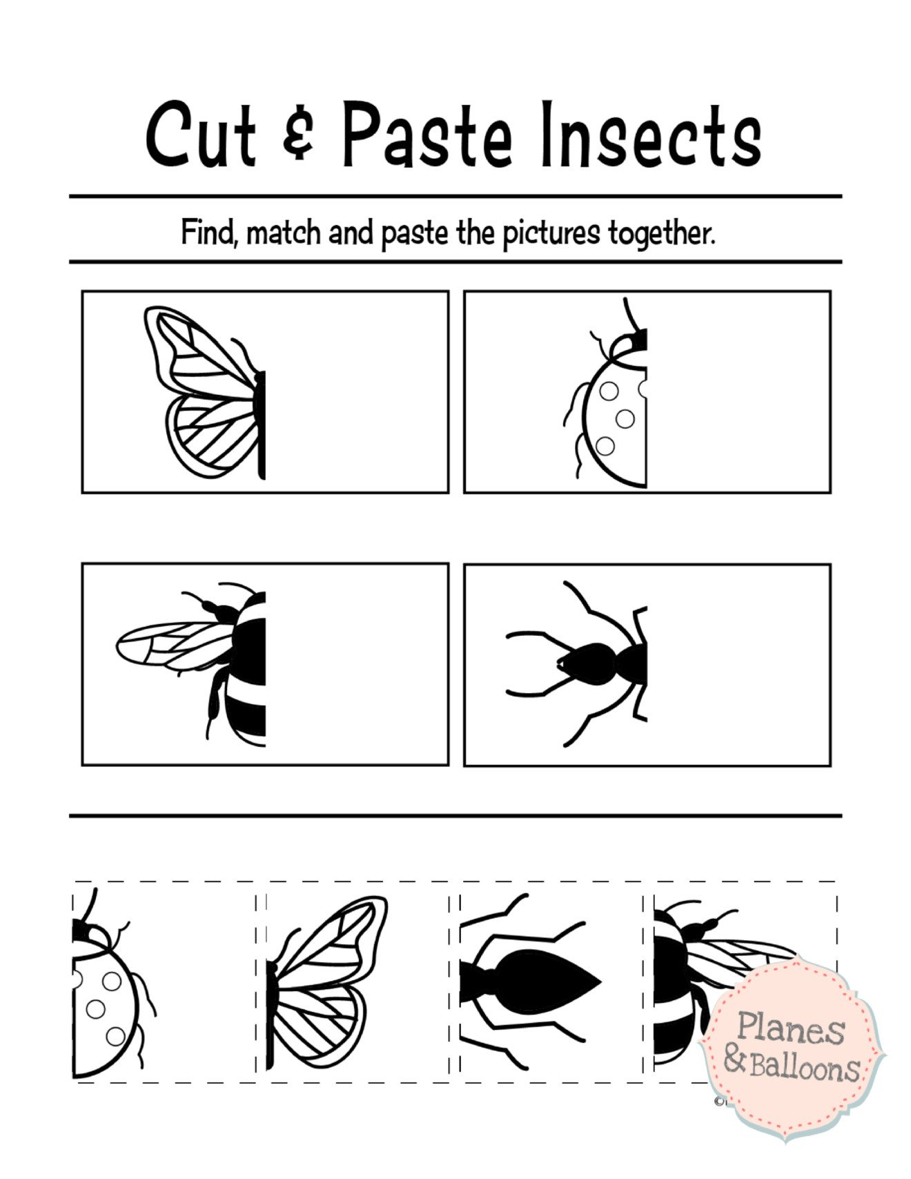 Free Cut and Paste Worksheets Free Cut and Paste Sequencing Worksheet for Kindergarten