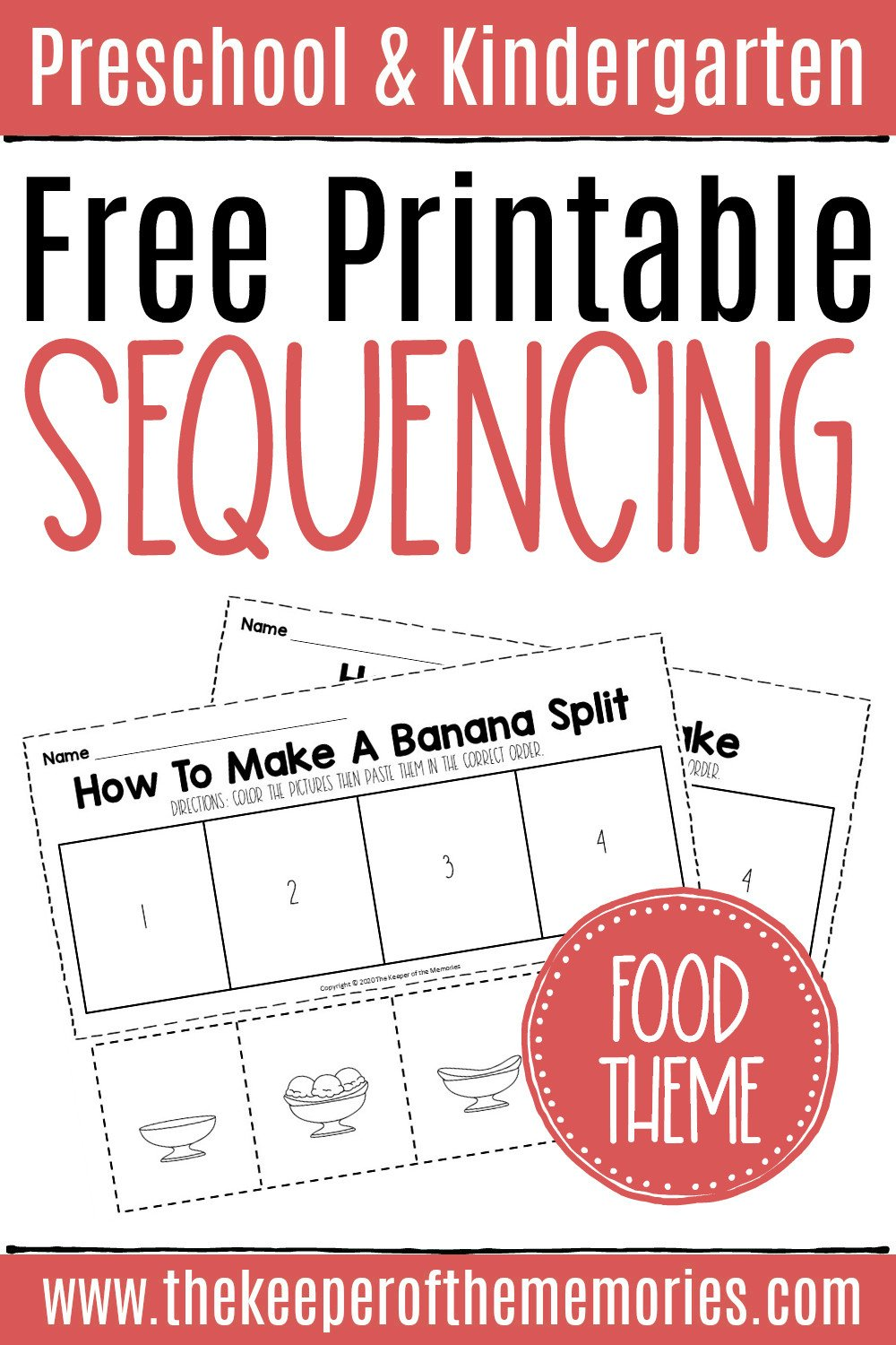 Free Sequencing Cut Paste Worksheets