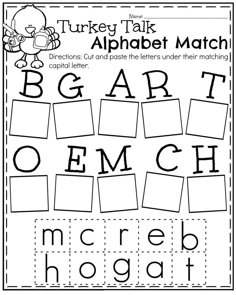 Free Cut and Paste Worksheets Practice Writing Lowercase Letter Worksheets