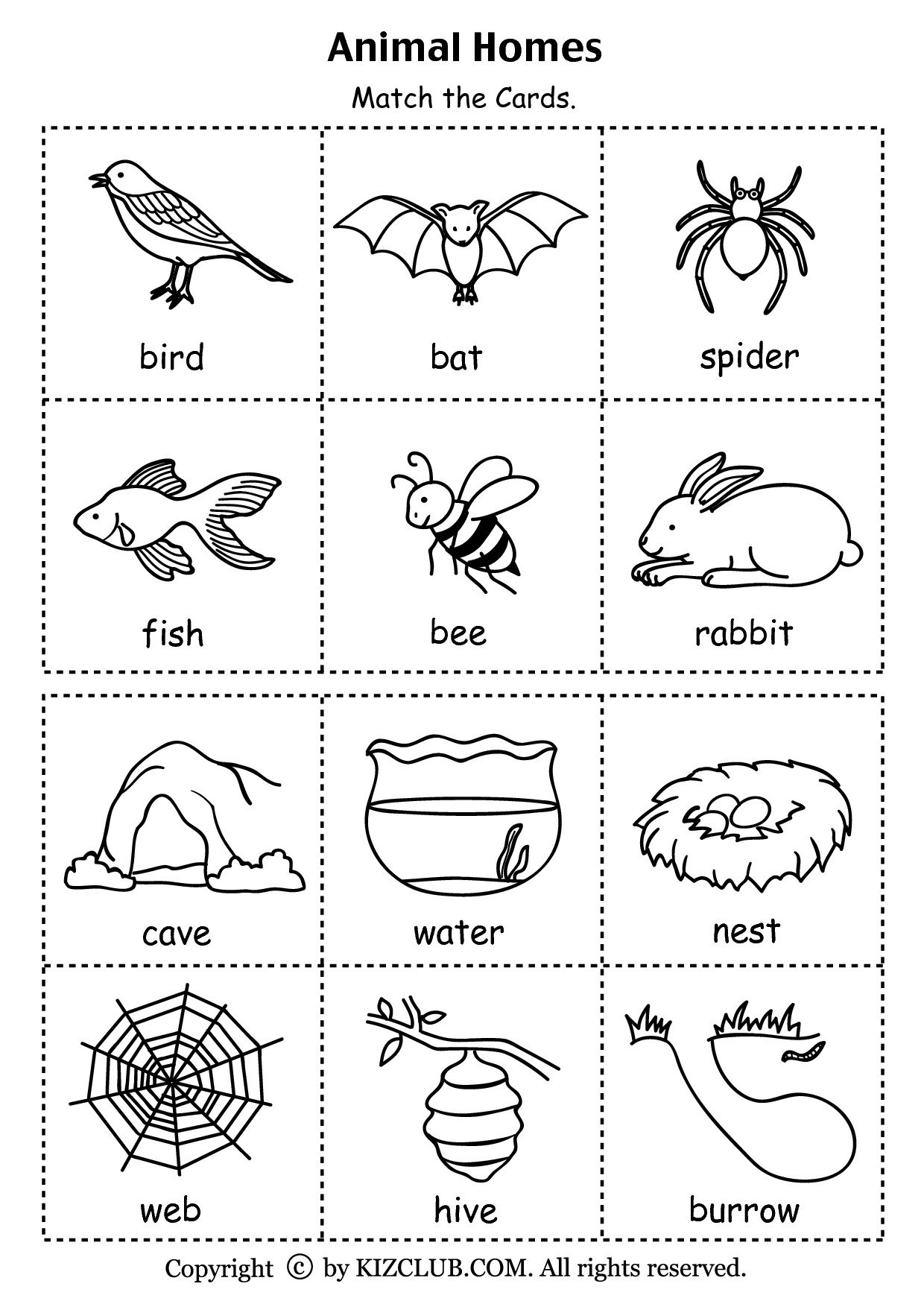Free Habitat Worksheets Animal Habitat sort Worksheet