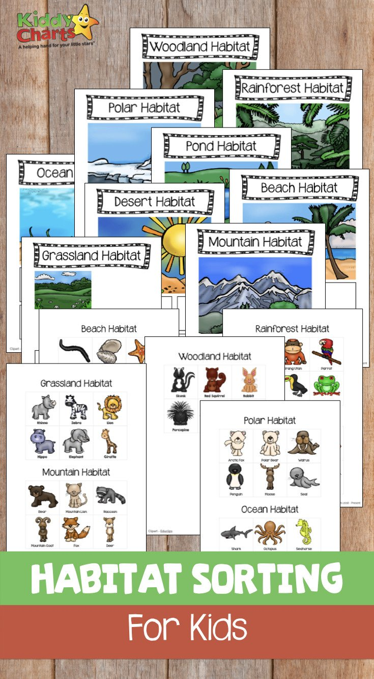 Free Habitat Worksheets Animal Habitats sorting Game for Kids Free Printable