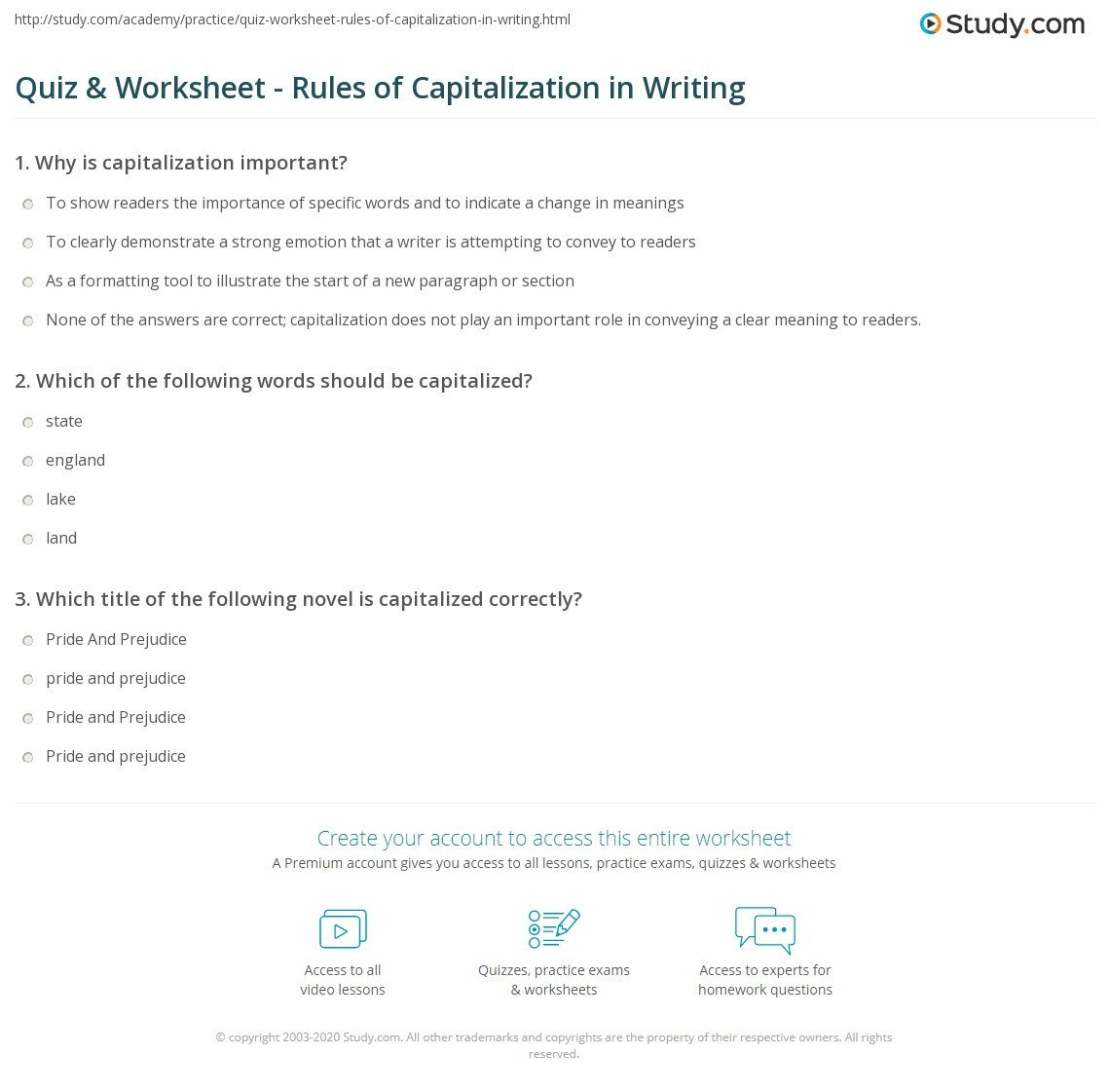 Free Printable Capitalization Worksheets Waytoohuman Free Worksheets for Kids & Printables Page 42