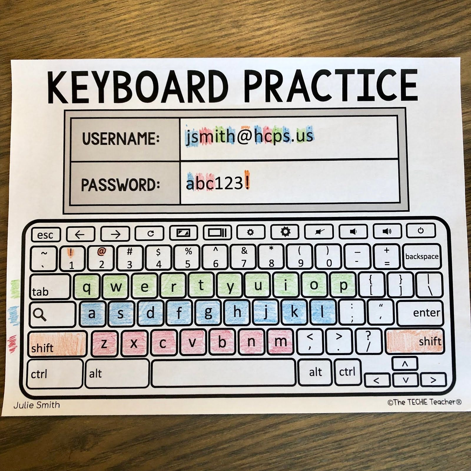 Free Printable Keyboarding Worksheets Blank Chromebook Keyboard Worksheet